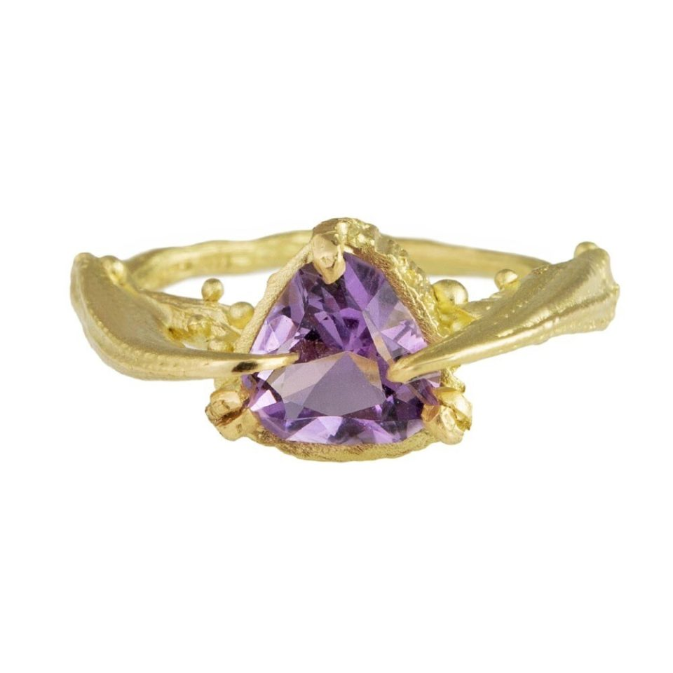 tomfoolery, eily o'connell, One Of A Kind 'Ursula The Sea Witch' Amethyst & 18ct Yellow Gold Ring