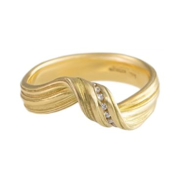 Marion Lebouteiller, Absolu Diamond & 18ct Yellow Gold Loop Ring, Tomfoolery