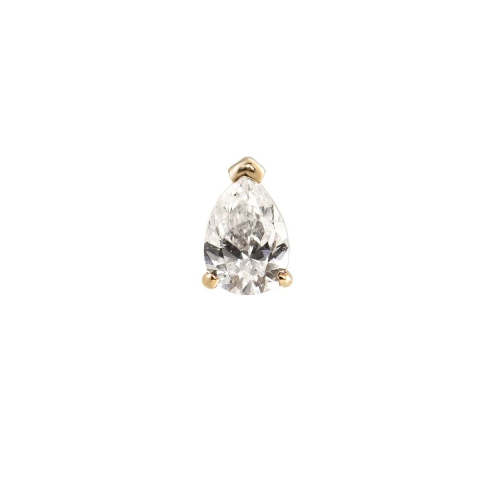 metier by tomfoolery, Claw Pear Studs, 9ct Yellow Gold