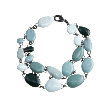 Double Row Oceanic Ceramic Bracelet