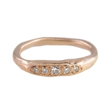 Mia Chicco, Organic Five Diamond & 9ct Rose Gold Ring, Tomfoolery