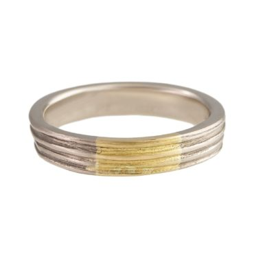 Marion Lebouteiller, Absolu 18ct White & Yellow Gold Interstice Ring, Tomfoolery