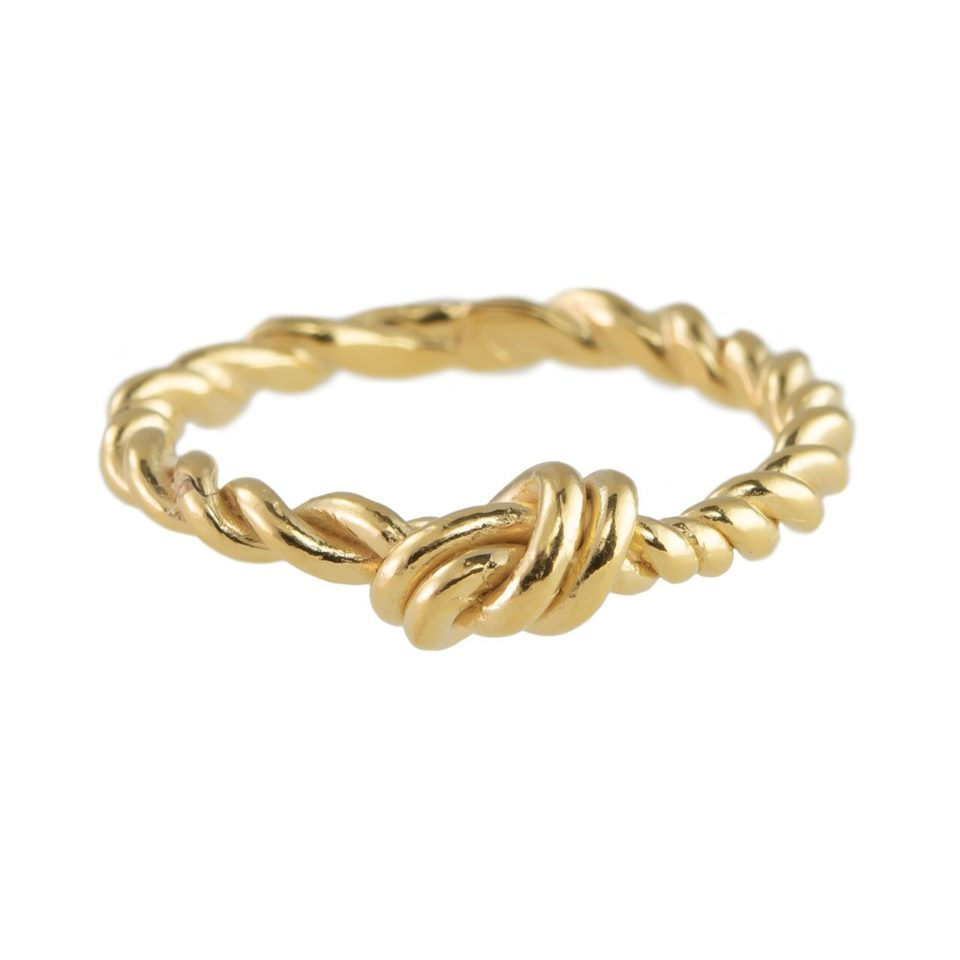Layla Small Knot with a Twit Stacking Ring, tomfoolery, Karen Hallam