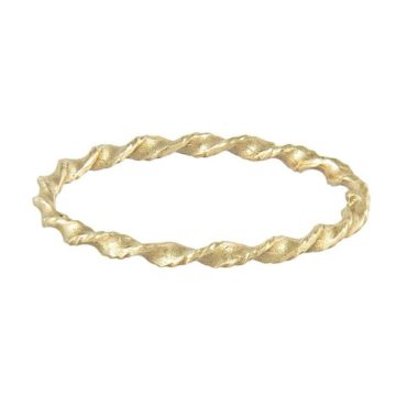 14ct Yellow Gold 'LXXXII' Twist Wedding Band, Ellis Mhaira Cameron
