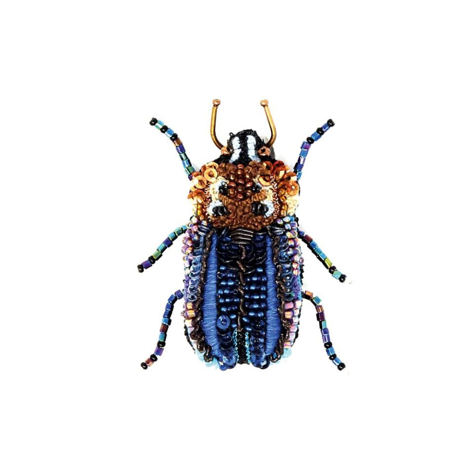 Trovelore, Blue Stag Beetle Brooch