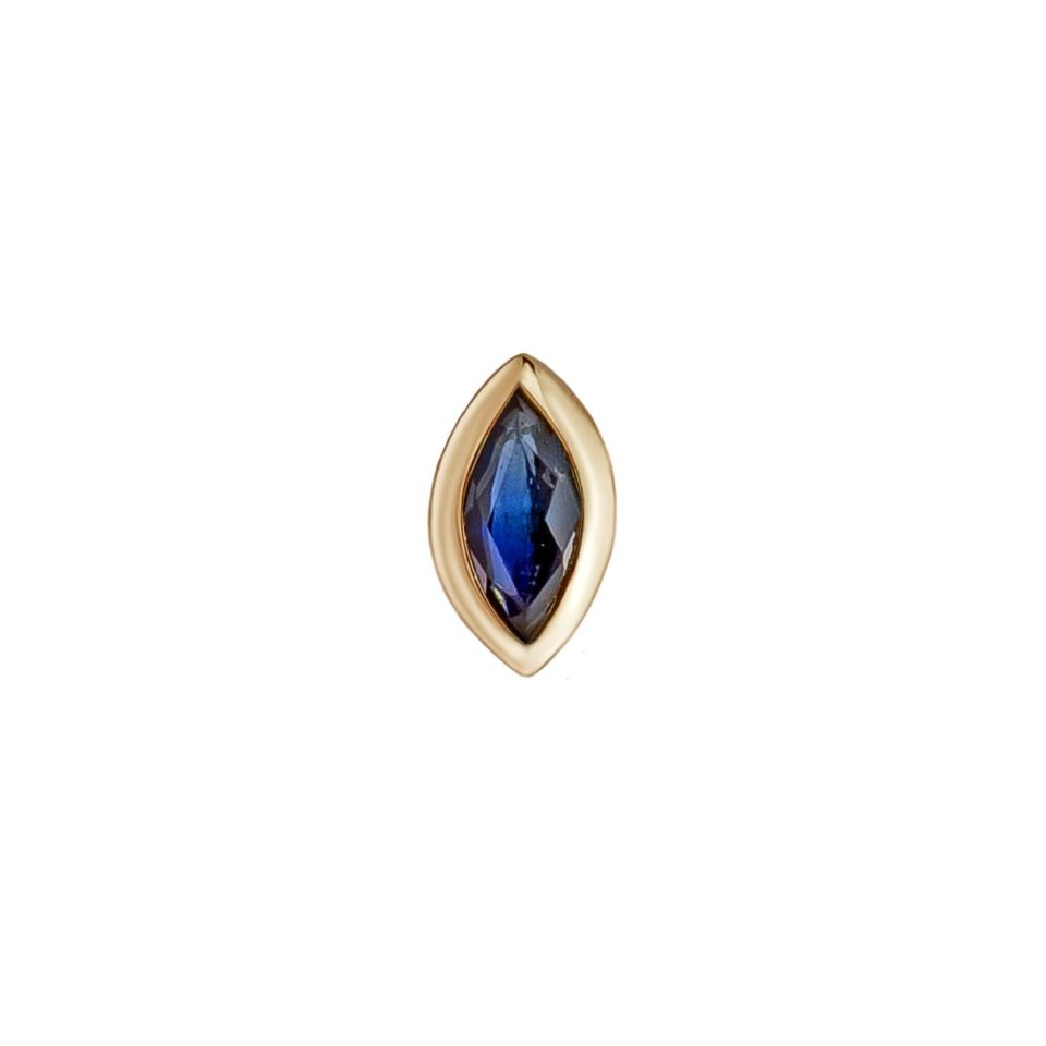 metier by tomfoolery: mini marquise bezel studs