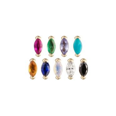 metier by tomfoolery, Claw marquise Studs, 9ct Yellow Gold