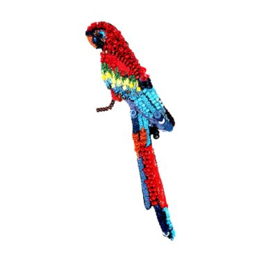 Trovelore, Scarlet Macaw Parrot Brooch