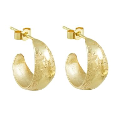 tomfoolery,  14ct Yellow Gold 'LX' Hoop Earrings, Ellis Mhairi Cameron
