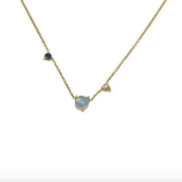WWAKE, Three-Step Necklace, Opal Necklace, Tomfoolery