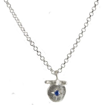 Maria Beltran, Small Blue Sapphire Silver Star Pendant, Tomfoolery