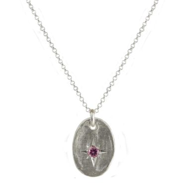 Maria Beltran, Pink Sapphire Silver Star Pendant, Tomfoolery