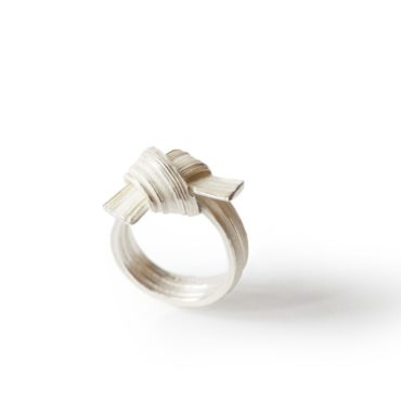 Marion Lebouteiller, Absolu Sculptural Knot Silver Ring, Tomfoolery