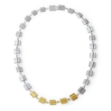 Marion Lebouteiller, Silver & 18ct Yellow Gold Statement Necklace, Tomfoolery