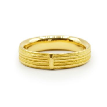 Marion Lebouteiller, Absolu 18ct Yellow Gold Simple Band, Tomfoolery
