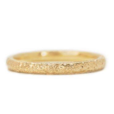 Maya Selway, Scattered 18ct Yellow Gold Wedding Ring 2mm, Tomfoolery