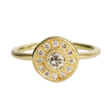 Mia Chicco, Champagne Diamond & 18ct Yellow Gold Cluster Ring, Tomfoolery