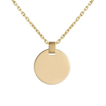 Tomfoolery; 9ct Yellow Gold Circle Tag Pendant , Tableau