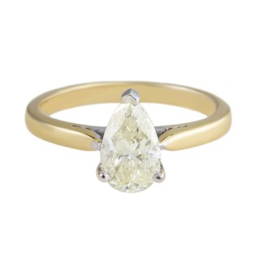 tf Collective, Pear Shaped Yellow Diamond Ring, Tomfoolery