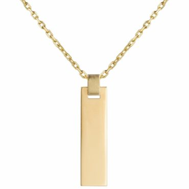 Tomfoolery; 9ct Yellow Gold Bar Tag Pendant , Tableau