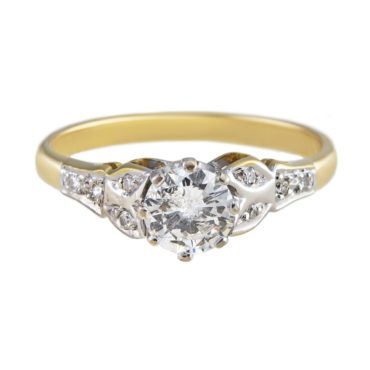 tf Collective, 18ct White & Yellow Gold Diamond Stone Ring, Tomfoolery