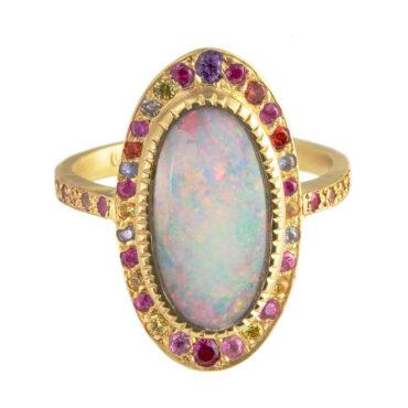 Tomfoolery, Sarah Gardner, 'Opal & Sapphire Pebble' Art Ring