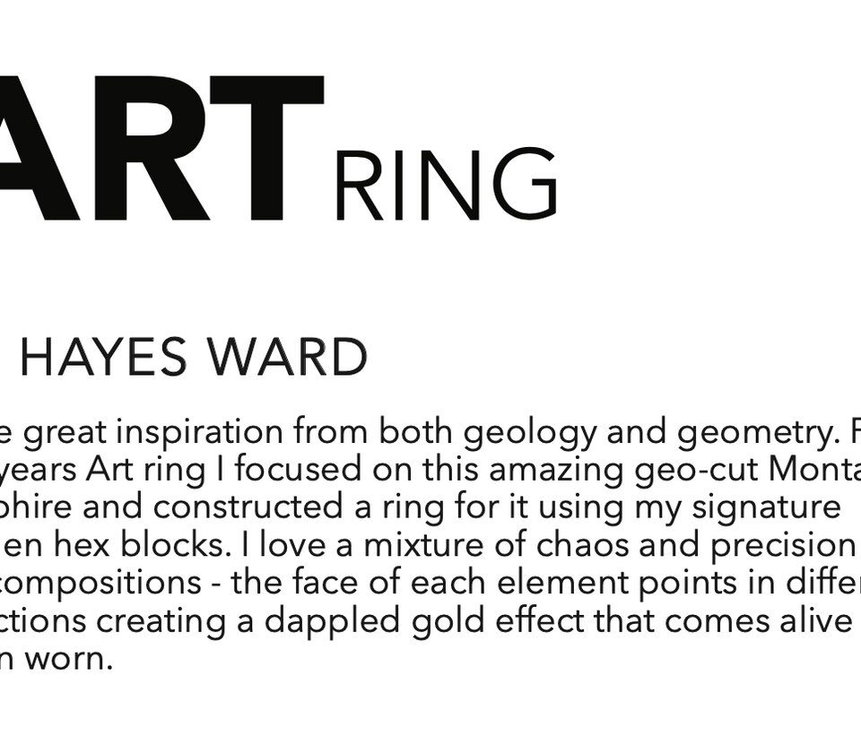 Jo Hayes ward, One Of A Kind 'Chaos Hex' Art Ring, tomfoolery