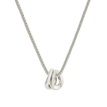 tomfoolery, Latham and Neve, Double Hoop Silver Necklace