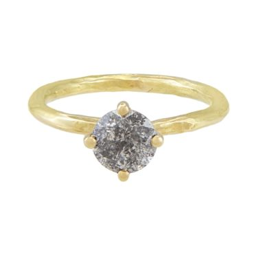 tf one, tomfoolery, 18ct Yellow Gold Salt and Pepper Brilliant Diamond Ring