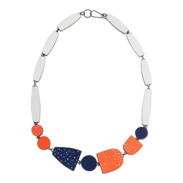 Tomfoolery, Multi Shape Necklace With Inlay Dots, Emily Kidson