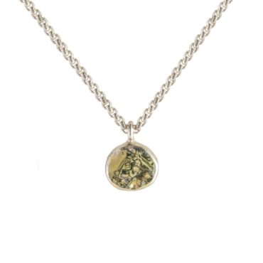 Samantha Queen, Solid Silver and 18ct Gold Pendant Necklace, Tomfoolery