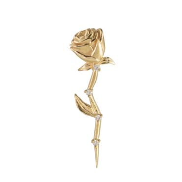 Sofia Zakia, Diamond Stem Rose Single Earring, Tomfoolery