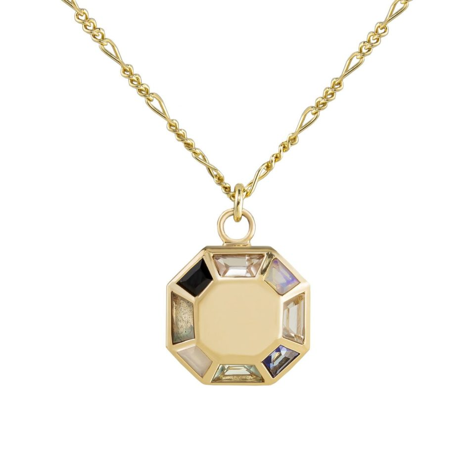 Tomfoolery; 9ct Yellow Gold Pastel Octagon Pendant , Tableau