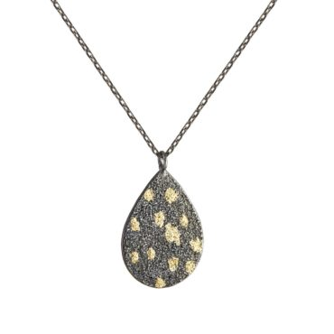 Samantha Queen, Oxidised Silver and 18ct Gold Chain Necklace, Tomfoolery