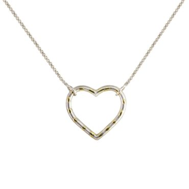 Samantha Queen, Silver and 18ct Gold Polka Heart Pendant Necklace, Tomfoolery