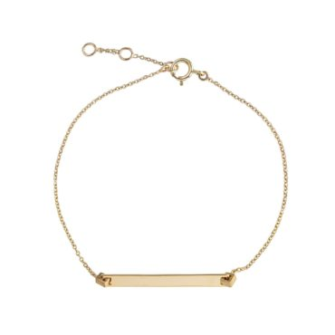 Tomfoolery; 9ct Yellow Gold Slim bar Bracelet, Tableau