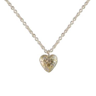 Samantha Queen, Silver and 18ct Gold Solid Heart Pendant Necklace, Tomfoolery