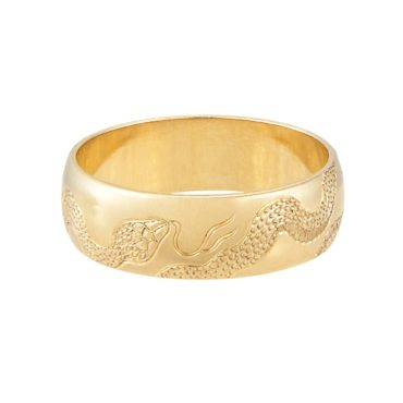 Maiden Voyage, tomfoolery, Gold Snake Engraved Wide Ring