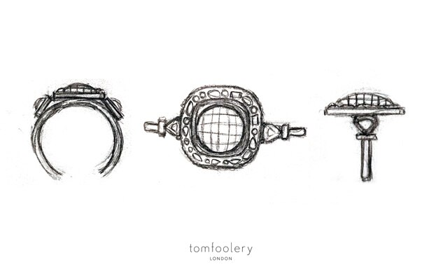 Tomfoolery, Muse by Tomfoolery, One of A Kind ' Natural Pink Diamond' Art Ring