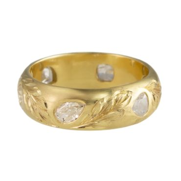 Diana Mitchell, One of a Kind 'Gypsy Eternity Band' Art Ring, tomfoolery