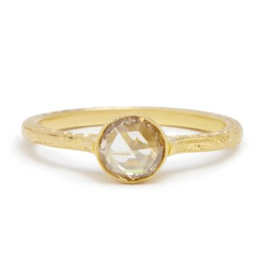 Diana Mitchell, tomfoolery, Oval Rose Cut Diamond Gold Ring