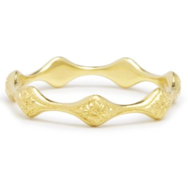 Diana Mitchell, tomfoolery, Wave Engraved Gold Eternity Ring
