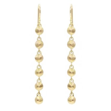 Diana Mitchell, tomfoolery, Gold Flat Chain Drop Earrings