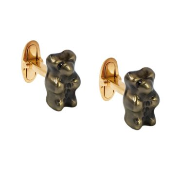 Liquorice Gummy Bear Gold Cufflinks