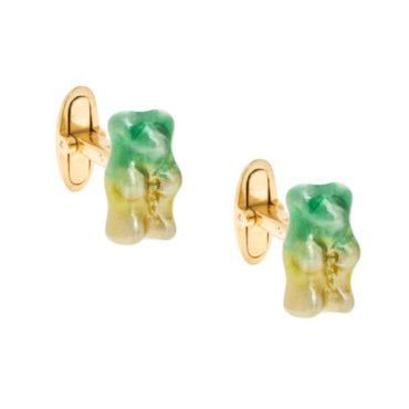 tomfoolery, Magoosh, Green and Yellow Ombre Gummy Bear Cufflinks