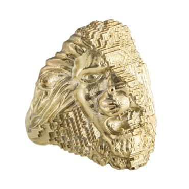 Harriet Morris 'Lion Shield' Art Ring, tomfoolery