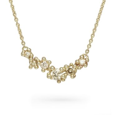 Ruth Tomlinson, 14ct Yellow Gold Diamond Granule Necklace, tomfoolery
