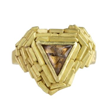 tomfoolery, lucie gledhill, One of Kind 'Triangle Temple' Art Ring