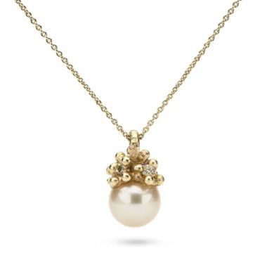 Ruth Tomlinson, 14ct Yellow Gold Encrusted Pearl Necklace, tomfoolery