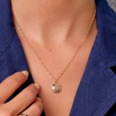 Tomfoolery; 9ct Yellow Gold Pastel Octagon Pendant, Tableau